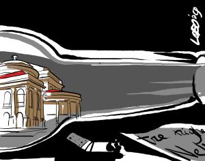 Naufragio urbano (illustrazione di Giuseppe Lo Bocchiaro)