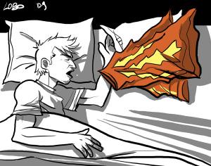 Sognare (illustrazione di Giuseppe Lo Bocchiaro)