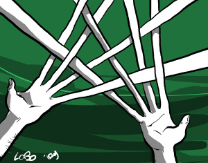 Le trame ordite (illustrazione di Giuseppe Lo Bocchiaro)
