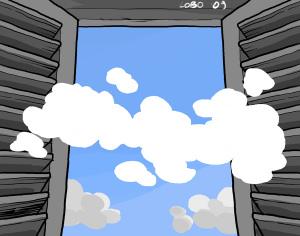 Notizie nuvolose (illustrazione di Giuseppe Lo Bocchiaro)