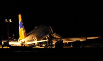 Airbus della Wind Jet fuori pista a Palermo