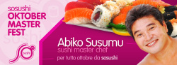 Abiko Susumu a ottobre da Sosushi