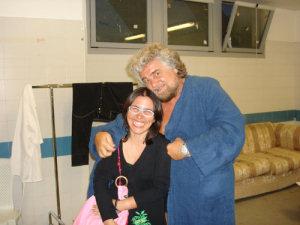 Maria Letizia Affronti e Beppe Grillo