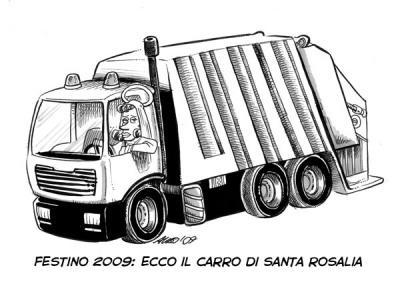 """""""Festino"""" 2009: ecco il carro di Santa Rosalia"""