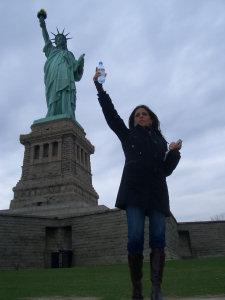 Barbara e la Statua della Libertà