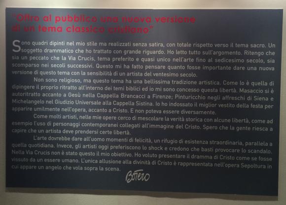 """Botero e la """"Via Crucis"""" (in inglese forse Go Crucis...)"""