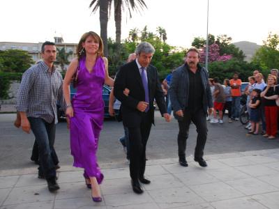 Marida Cassarà e Diego Cammarata alle nozze Abbagnato-Balzaretti