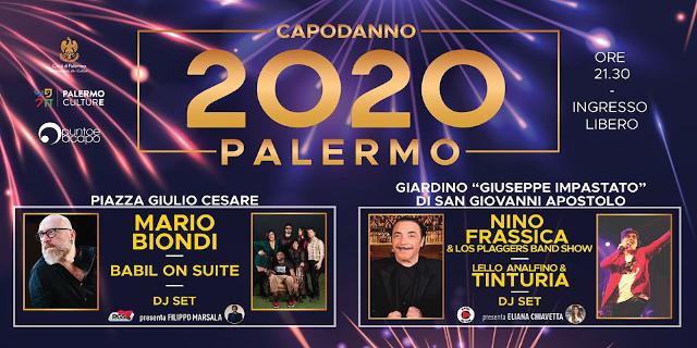 Capodanno 2020 a Palermo con Frassica, Tinturia, Mario Biondi e Babil on Suite