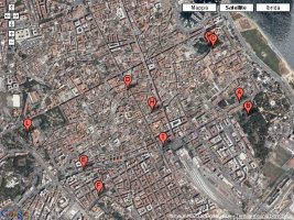 Mappa dei luoghi di CittÀteneo - Le vie dei tesori