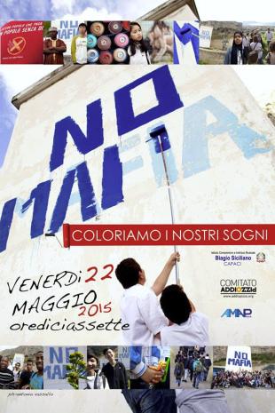 """""""Coloriamo i nostri sogni"""" ridipinge """"No mafia"""" su collina della strage di Falcone"""