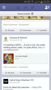 Il Comune di Palermo e One Epic Knight - facebook