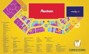 Mappa del Centro commerciale Conca d'Oro