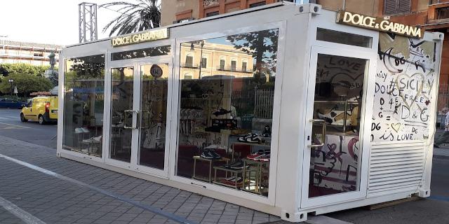 In via Libertà un temporary store di Dolce & Gabbana