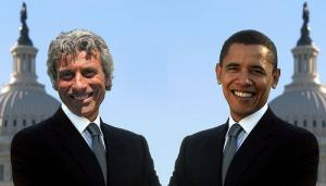 Diego Cammarata e Barack Obama (fotomontaggio di Marco Corona per SiciliaToday.net)