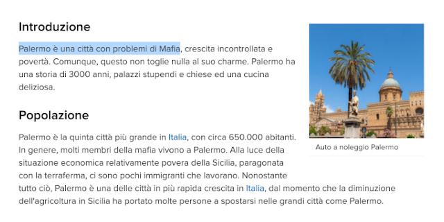 """""""Palermo è una citta con problemi di Mafia"""", parola di EasyTerra"""
