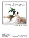 "Francesco Gallé - ""Endangered landscapes - Orizzonti in pericolo"""