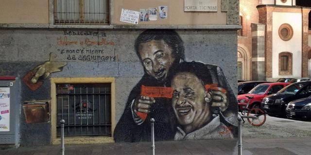 Sfregiato murales di Falcone e Borsellino a Milano: spunta una pistola