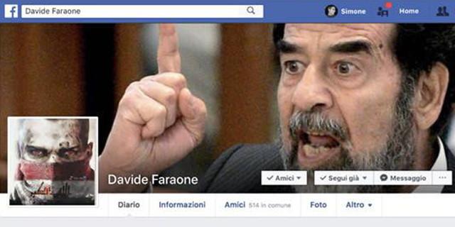Hackerato facebook di Davide Faraone? Spunta Saddam