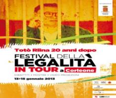 """""""Festival della Legalità in Tour"""" a Corleone"""