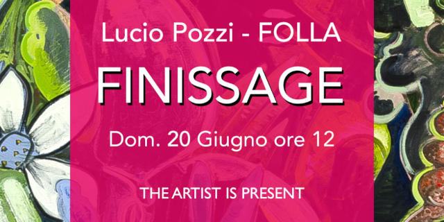 """L'artista italoamericano Lucio Pozzi al finissage di """"Folla"""" presso la RizzutoGallery"""