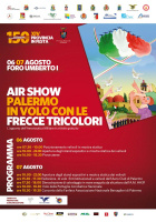 Air show con le Frecce tricolori al Foro Italico