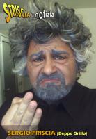 Sergio Friscia fa Beppe Grillo a Striscia la notizia