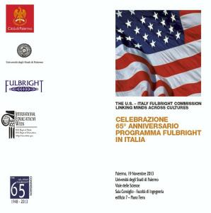 65° anniversario del Programma Fulbright, domani a Ingegneria