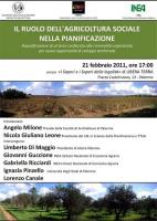 """""""Il ruolo dell'agricoltura sociale nella pianificazione"""""""