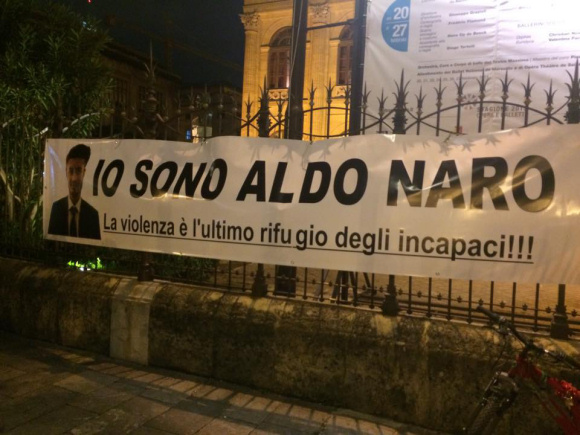 """In tremila alla fiaccolata """"Io sono Aldo Naro"""", domani sera si replica allo Zen"""