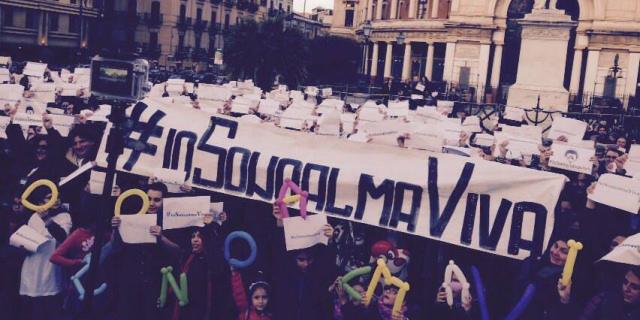 Lavoratori Almaviva: flash mob contro l'immobilismoiteama