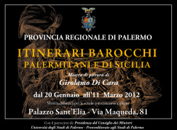 """Girolamo Di Cara - """"Itinerari barocchi palermitani e di Sicilia"""""""