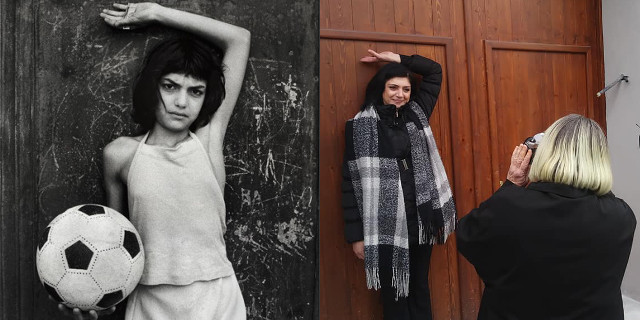 Letizia Battaglia ritrova la bambina con il pallone della foto 38 anni dopo
