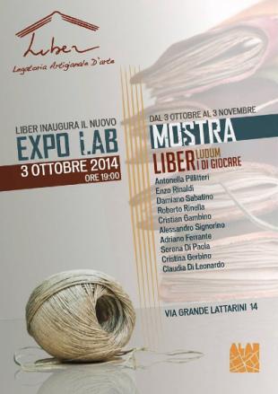 """Inaugurazione dell'expo-lab di Liber e mostra """"Liber Ludum"""""""
