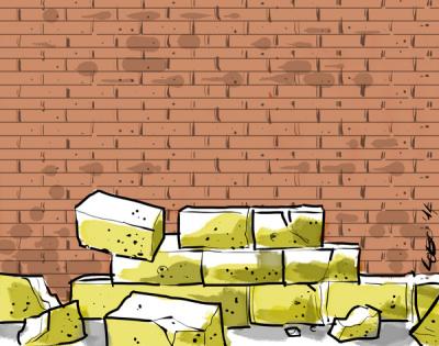 Abbattuto il muro alla Vucciria...