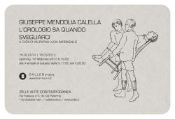 """Giuseppe Mendolia Calella - """"L'orologio sa quando svegliarci"""""""