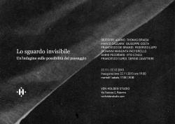 """AA. VV. - """"Lo sguardo invisibile"""""""