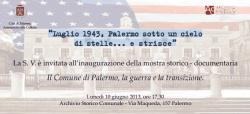 """""""Luglio 1943, Palermo sotto un cielo di stelle...e strisce"""""""