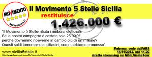 Il Movimento cinque stelle Sicilia rinuncia al rimborso elettorale