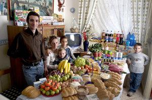 La spesa della famiglia Manzo
