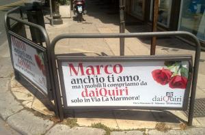 «Marco anch'io ti amo»