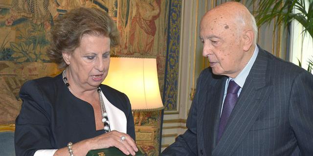 Maria Falcone e Giorgio Napolitano