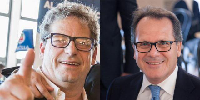Gianfranco Miccichè e Saverio Romano