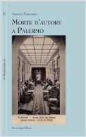 "Antonio Fiasconaro - ""Morte d'autore a Palermo"""