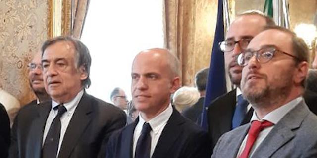 Leoluca Orlando, Fabio Giambrone e Giusto Catania