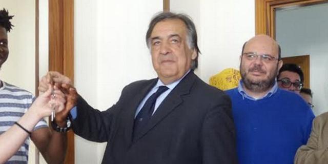 Giuseppe Mattina con Leoluca Orlando