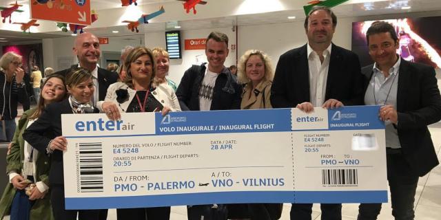 Enterair collega Palermo a Vilnius