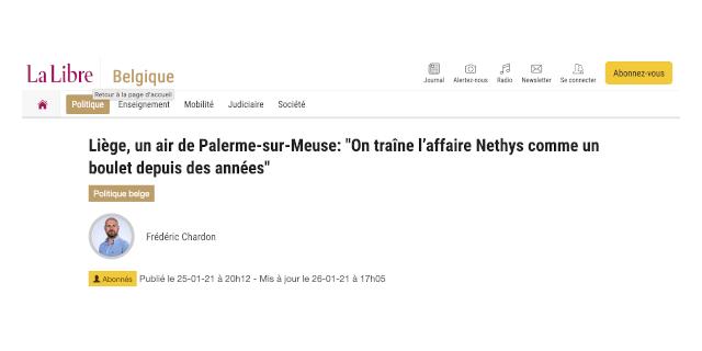 """Giornale belga parla della corruzione a Liegi e titola: """"Aria di Palermo sulla Mosa"""""""