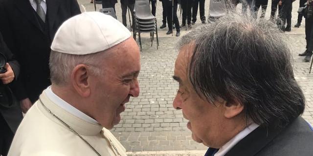 Papa Francesco e Leoluca Orlando