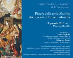 """Pittura della tarda Maniera dai depositi di Palazzo Abatellis"""