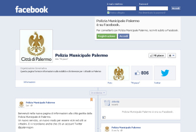 Polizia municipale di Palermo - facebook